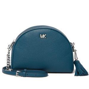 Michael Kors Leather Half-Moon Crossbody Bag